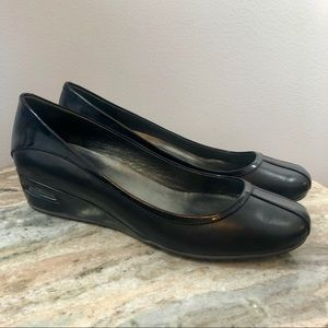 Cole Haan Wedges size 10 Black Leather